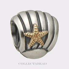 Authentic Pandora Sterling Silver & 14k Gold Seashell Bead 790249