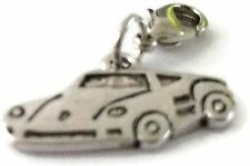LOVELY SILVER SPORTS CAR CLIP ON CHARM -TIBET SILVER - LOOK AT MY EBAY SHOP- NEW
