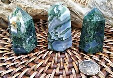 Moss Agate Crystal Tower ~ perfect for Healing and crystal grid  ~ SG14