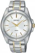 SQNP SGEF83P1 Seiko Gents Date Display Two Tone Bracelet Watch