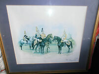 Original 1981 Household Calvary at Windsor Print by Christopher C Collins Signed