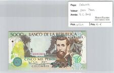 BILLET COLOMBIE - 5000 PESOS - 6.6.2003