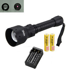 Zoom OSRAM Infrared IR 850nm Red Hunting Light Nigh Vision Torch 18650+Charger