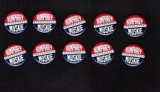 Close out sale ! 10 HHH Hubert Humphrey, Edmund Muskie campaign buttons