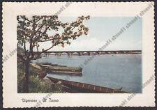 PAVIA VIGEVANO 37 Fiume TICINO - BARCHE Cartolina viaggiata 1957