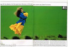 Publicité Advertising 1988 (2 pages) Shampooings soin des cheveux Wella