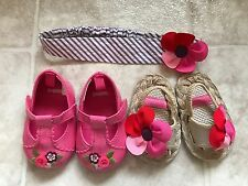 Gymboree Baby Shoes Size 1 Headband Lot BRAND NEW