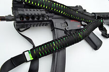 Tactical 550 Paracord Rifle Gun Bow Tactical Sling Single Point w/QD TOXIC VENOM