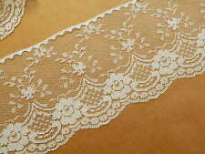 IVORY LACE TRiM 4 in. WiDE ~ 5 YDS ~ Gorgeous Wedding Lace Crafts Sewing