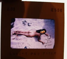 Original Vintage 1960's Hawaii Vacation Nude Girl Color Photo 35mm Slide Lani