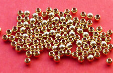 2mm 14K Gold Filled Round Seamless Spacer Beads 50pcs.