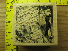 Rubber Stamp Garden Collage Paper Inspirations Lady Flower Stampinsisters #3510