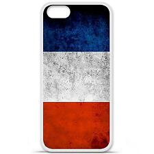 Coque housse étui tpu gel motif drapeau France Iphone 5 / 5S