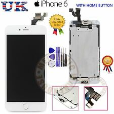 "iPhone 6 4.7"" Replacement LCD Touch Screen Digitizer & Home Button Camera White"