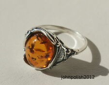 Beautiful Baltic Amber Ring with Silver 925