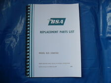 BSA B25 STARFIRE PARTS BOOK FOR 1970  MODELS