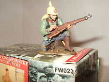 King and country FW023 WW1 allemand fantassin à genoux à charge fusil, échelle 1:30