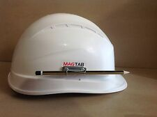 Magtab, magnetic pen / pencil holder, helmet / hard hat accessory.