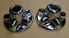 (2) RV/Camper/Trailer - Chrome Plastic 5 Lug and Hub Wheel Covers, 2 PACK