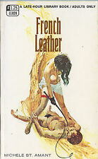 Vintage Sleaze PB Paperback - French Leather - Late Hour Library Book Greenleaf