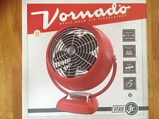 VORNADO VFAN JR VINTAGE ROOM AIR CIRCULATOR RED 2-SPEED NEW BOX