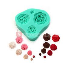 Rose Fiori Stampo Silicone Decorazione Torta Fondant Dolci Craft Fai Da Te