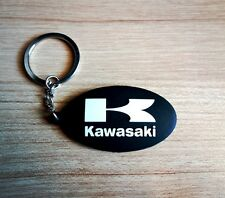 Kawasaki Keychain Keyring Black Rubber Motorcycle Bigbike Collectible Gift New
