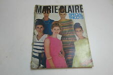 VINTAGE MARIE CLAIRE LADIES FASHION MAGAZINE IN FRENCH FROM 1965 / 100TH ISSUE