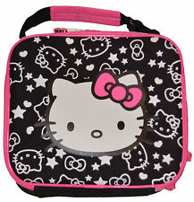 Old Navy Hello Kitty Black & Pink Hearts & Stars Lunch Box Tote Travel School