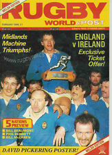 RUGBY WORLD MAGAZINE FEBRUARY 1986 - PERFECT GIFT FOR A FAN BORN IN THIS MONTH
