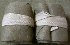 WWI UK BRITISH CANADIAN COMMON WEALTH INFANTRY WOOL PUTTEE WRAPS-12 FEET