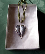 Coldwater Creek Leaf Heart Pendant Necklace Sterling Silver NWT