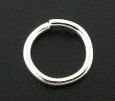 400 PCs Silver Plated Open Jump Rings 8x1mm Findings