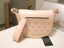 MARC BY MARC JACOBS LUNA PALE PINK STUDDED LEATHER CROSSBODY HANDBAG  $398