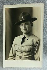 AZO RPPC Military Army Soldier US 23rd Infantry Regiment 1930s Man in Uniform