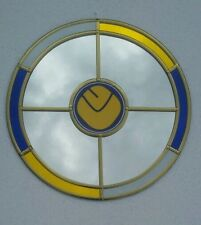 Leeds United  wall mirror.  30cm circle .  1970s smiley badge