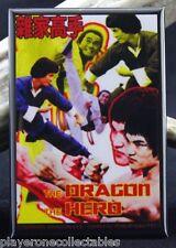 The Dragon, The Hero Movie Poster 2 X 3 Fridge Magnet. Kung Fu Classic John Liu