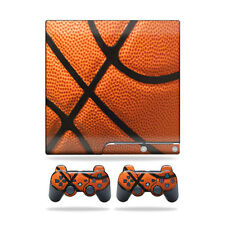 Skin Decal for Sony Playstation 3 PS3 Slim + 2 controllers sticker Basketball