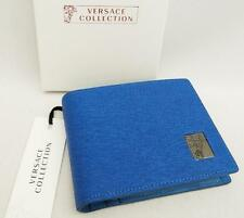 VERSACE COLLETION Leather Wallet + Coin Pocket + Box Perfect Gift