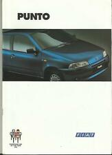 FIAT PUNTO 55S, DS, SX-SELECTA, SPORTING, GT &  ELX CABRIO SALES BROCHURE 1996