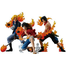 Anime One Piece Attack Styling Luffy Ace Sabo Brother 3pcs PVC Action Figure Toy