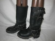 Amazing WESCO Engineer/motorcycle boots Women 6 Black Leather Goth Steampunk