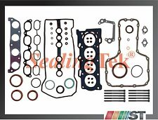 1998-99 Toyota 1.8L 1ZZFE Engine Full Gasket Set w/ Head Bolts Kit 1ZZ-FE motor