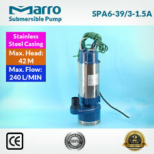 Marro Stainless Steel Casing Submersible Pump SPA6-39/3-1.5A