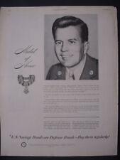 1951 Sgt Charles Turner Medal of Honor Korea US Savings Bonds Vtg Print Ad 12264