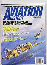 AVIATION HISTORY NOV 1996-BREWSTER BUFFALO-FGHTR-1ST COAST-COAST MAIL FLGHT 1921