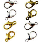 100Pcs Gold/Silver Lobster Clasps Necklace Findings Fastener Plated etc 10-16mm
