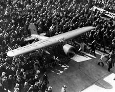 8x10 Print Amelia Earhart The Lockheed Vega Surrounded by Crowds 1935 #AE109