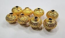 Vintage handmade 22K Gold jewelry beads set of 8 pieces rajasthan india