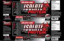 Goliathlabs 100% Whey Protein Isolate 10 lb 2 Amazing Flavors From Iso Pack